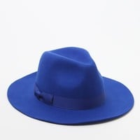 lack of color The Azure Fedora - Womens Hat - Blue - Small