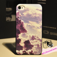 Cute Cloud iPhone 4 4s Case, Cute iPhone 4 Case, Cool iPhone Case 4 4s, Cloud Style iPhone Case, iPhone protective case floral,iPhone hard c