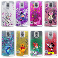 New Glitter Star Liquid Cheshire Cat Cartoon Characters Back Hard Cover Case for Samsung Galaxy S5 i9600 Alternative Measures