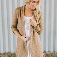 Fringed Duster Cardigan