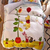 Yellow Winnie the Pooh 3D Bedding Sets