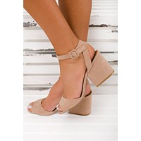 Vintage Forever Strappy Heels (Warm Taupe)