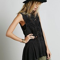 Free People Womens Lola Cutwork Tunic