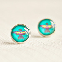 Eagle post earrings - Mexican collection - Free Worldwide Shipping - Gift for her under 20 USD
