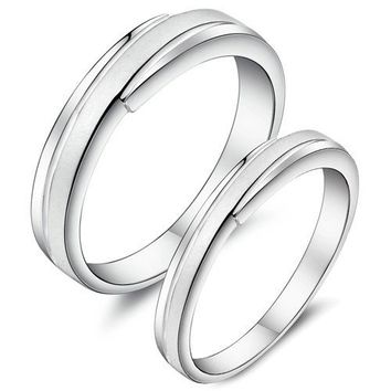 European fashion 925 sterling silver never fade couple rings - Couple Wedding Rings - Couples Gift Ideas