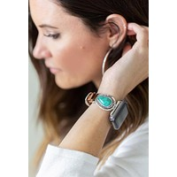 Western Turquoise Apple Watch Leather Band