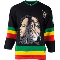 Bob Marley - Lion Adult Replica Hockey Jersey