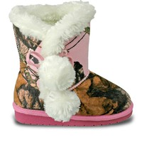 Toddlers' Mossy Oak Side Tie Boots - Pink Breakup Infinity (Special Offer)