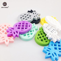 Let's Make Baby Pendants 5pc Silicone Pineapple Silicone Teether BPA Free Diy Crafts Accessories Baby Pram Toy Teething Ananas