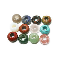 Natural Stone Dreadlock Beads Round 7x14mm Dia, Hole 6mm