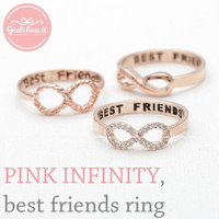 girlsluv.it - INFINITY - best friends ring, pinkgold collection