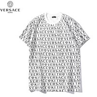 Versace Fashion Summer New More Letter Print Women Men Top T-Shirt White