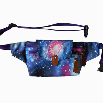 Bum bag galaxy blue2/boho fanny pack/Belt bag/waist bag/crossbody bag/festival bum bags/festival fanny pack/travel bags/BUY 3 FREE 1