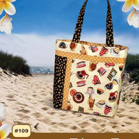 Tahoe Tote, Pink Sand Beach Designs , Pattern, Craft Supply