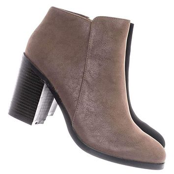 Sword24 Classic Chunky Stack Heel Bootie - Minimal Dress Ankle Boots