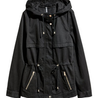 Short Hooded Parka - from H&M