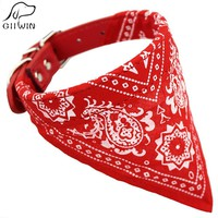 Adjustable Pets Collar Bandana Pet Neckerchief Printed for Kittens Cat Puppy Collar Leash Tie Pet Products for Animal JW0025