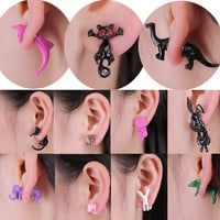 New Fashion 12 styles 3D lovely dog Dolphin Zebra Elephant Rabbit Animals stud earring for women girl cute  polymer clay jewelry