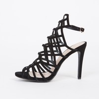 Strapped Cut Out Heels