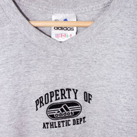 vintage property of ADIDAS athletic dept. shirt - minimal logo - workout gym tee