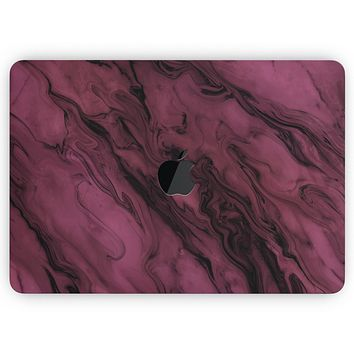 """Black & Pink Marble Swirl V1 - Skin Decal Wrap Kit Compatible with the Apple MacBook Pro, Pro with Touch Bar or Air (11"""", 12"""", 13"""", 15"""" & 16"""" - All Versions Available)"""