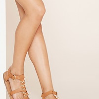 Chevron Faux Leather Sandals | Forever 21 - 2000170402