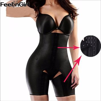 Plus Size XS-5XL 4 Steel Bones Latex Waist Trainer Hot Body Shapers Waist Cincher Women Slimming Thigh Shapewear Butt Lifter-5A