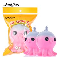 Fulljion Antistress Slow Rising Stress Relief Toys Unicorn Octopus Squishy Novelty Gag Toys Fun Squishe Squeeze For Children