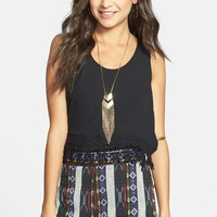 Painted Threads Blanket Dolphin Shorts (Juniors) (Online Only) | Nordstrom