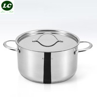casserole inox #18/10 cooking pot soup pot high quality stainless steel cookware