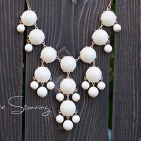 J Crew Bubble Necklace Inspired  Ivory Bubble by PureStunning