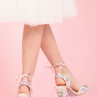 Unbridled Bliss Embroidered Heel