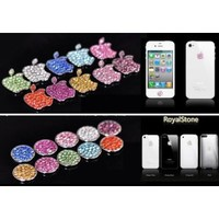 Amazon.com: HOT Royalstone Bling Home Button and Logo Sticker for Apple iPhone iPod Case Cover-Silver: Cell Phones & Accessories
