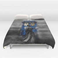 Tardis doctor who lost in the Mist apple iPhone 4 4s 5 5s 5c, ipod, ipad, pillow case and tshirt  Duvet Cover by Three Second