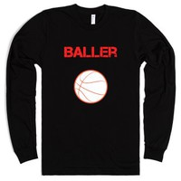 Baller long sleeve tee~JoBows~-Unisex Black T-Shirt