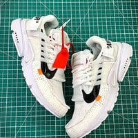 Off White X Nike Air Presto White Sport Running Shoes - Best Online Sale
