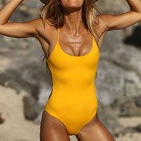 Women's swimming suit with a pure color serial bikini