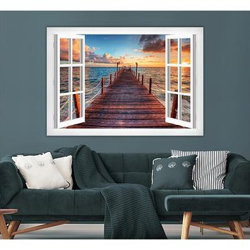 Sunset and Wood Pier