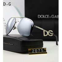 D&G Dolce & Gabbana Polarized Men's Trendy Color Sunglasses F-A-SDYJ Silver