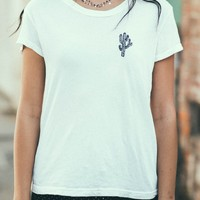 MARGIE CACTUS EMBROIDERY TOP