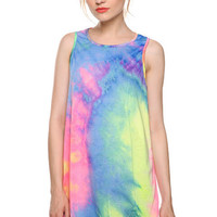 Sleeveless Ombre Tie Dye Mini Dress