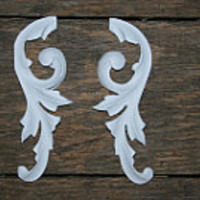 DIY furniture appliques shabby chic appliques cottage decor onlays arhictectural pieces do it yourself furniture makeover