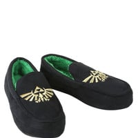 The Legend Of Zelda Triforce Guys Moccasin Slippers