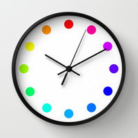 clock dots - color option white Wall Clock by Steffi by findsFUNDSTUECKE