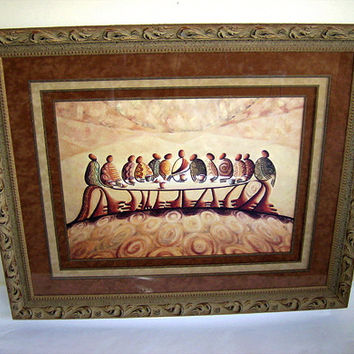 The Last Supper - Lithograph, Framed