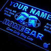 p-tm Name Personalized Custom Home Bar Beer Neon Light Sign Plastic Crafts