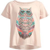 O'neill Owlalicious Girls Boxy Tee Pink  In Sizes
