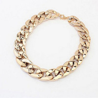 Women Jewelry Classic Silver Gold Necklaces For Pendants Women Statement Chain Necklace SM6