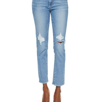 Skyline Boot-Cut Ankle Jeans, Serena