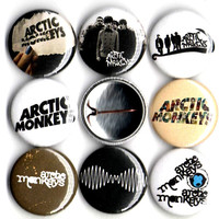 Arctic Monkeys set of 8 button pin badges
